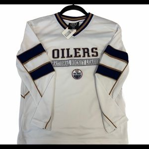 NHL Edmonton Oilers white jersey size medium